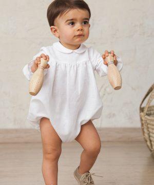 ranita de manga larga para ceremonia de bebé