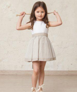 vestido de ceremonia niña de plumeti